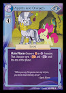 My Little Pony Apples and Oranges Premiere CCG Card