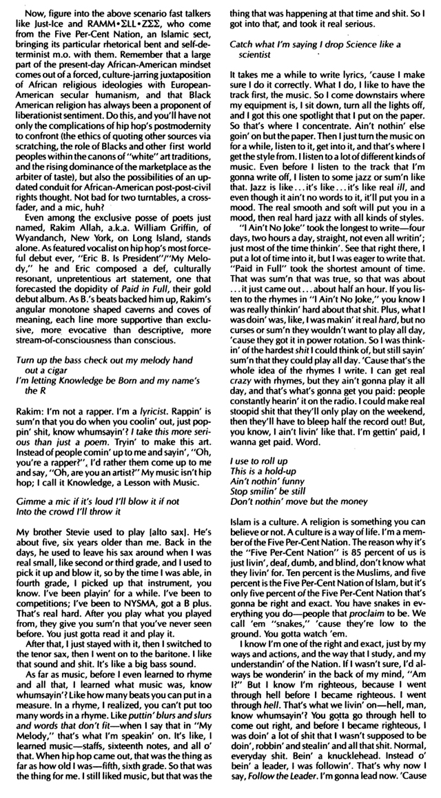 Eric B. & Rakim Interview Spin Magazine 1987 Hip-Hop Nostalgia