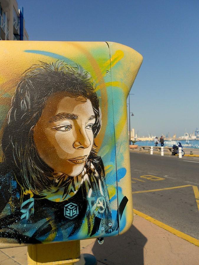 Уличное искусство Кристиана Гуеми (Christian Guémy aka C215) 15