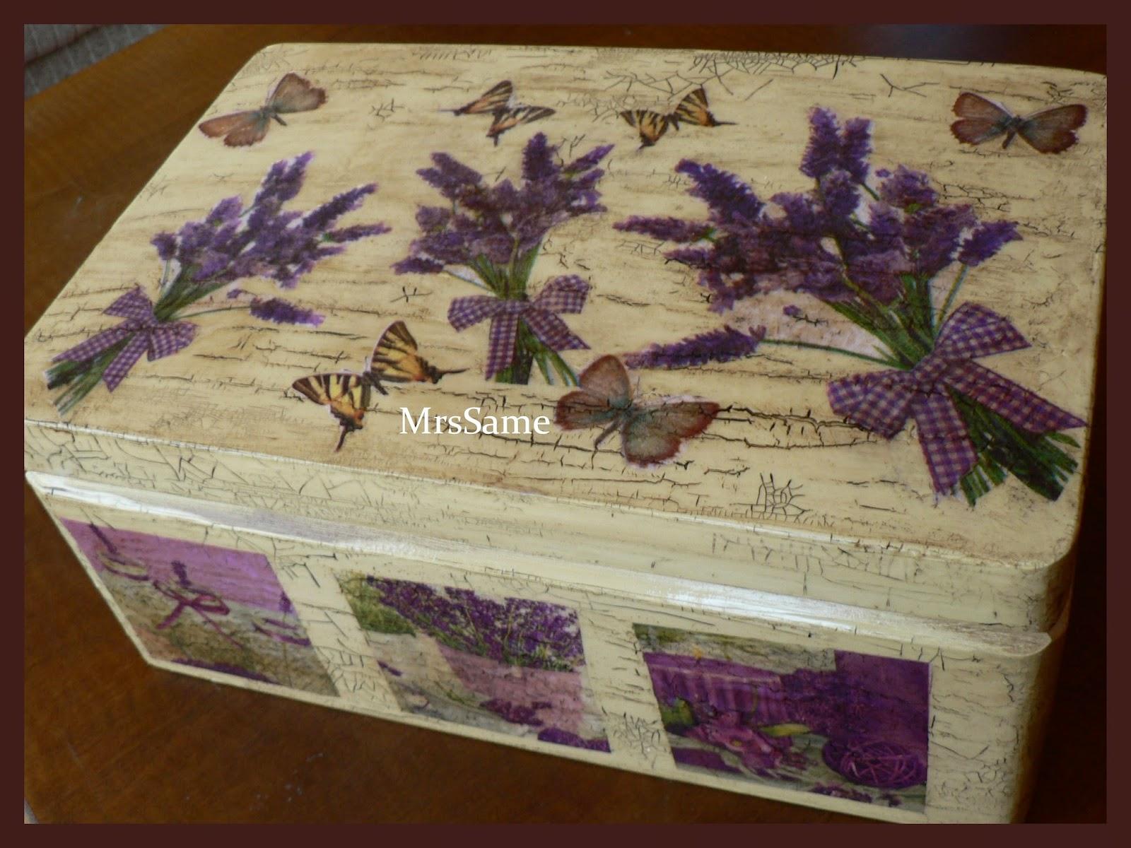 5eddb4401a5e Melinda kézműves kuckója: Levendulás pillangós antikolt doboz