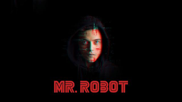 Rami Malek en un cartel de Mr Robot