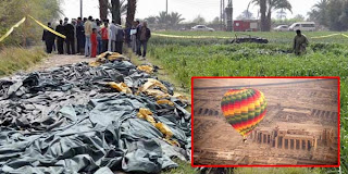 Balon Wisata Meledak di Atas Luxor Mesir