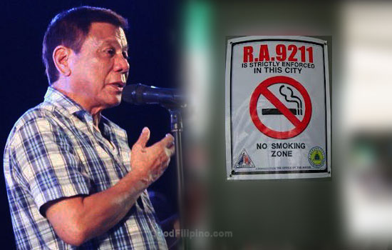 Duterte's nationwide Smoking Ban plans to implement asap