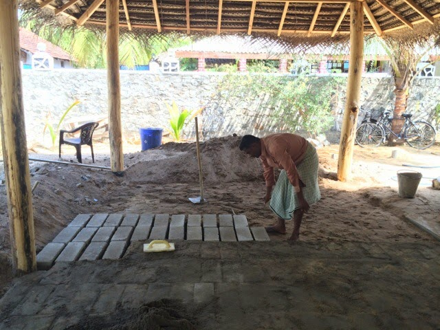 Construction of Yoga Hall