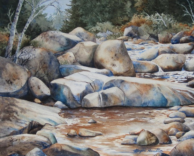 Lukisan Sungai Berbatu
