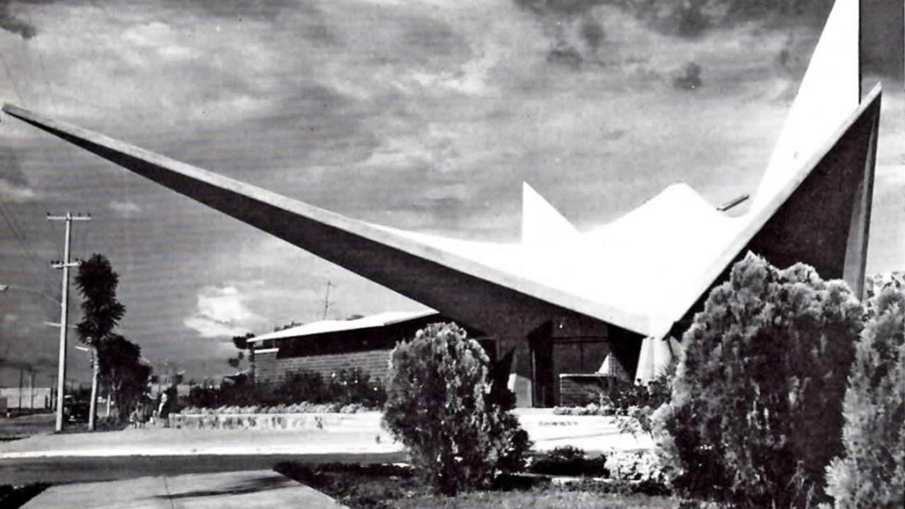 Foto antigua de la Unidad deportiva Adolfo López Mateos 1962