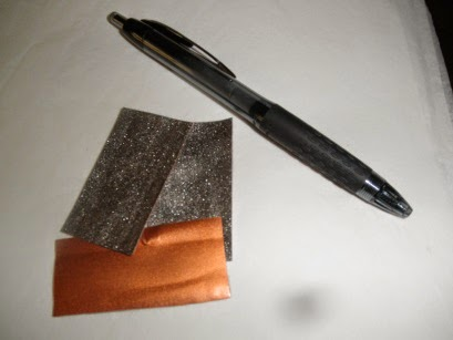 Cured sample of lead coated copper paint without the lead