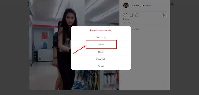 Menambahkan Video Dari Instagram - Kored ID