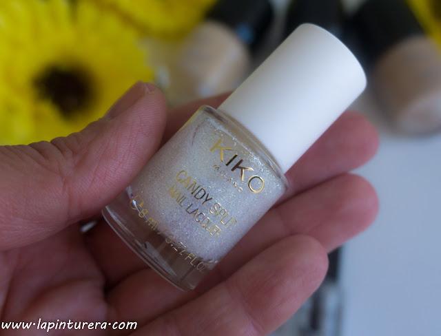 esmalte glitter blanco Kiko