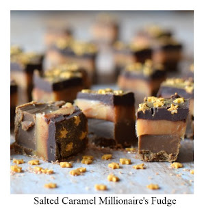 This Salted Caramel Millionaire's Fudge recipe is inspired by the popular Millionaire's Shortbread.  Replacing the shortbread is a layer of dark rich fudge, topped with salted caramel, and finished with a layer of semi dark chocolate.