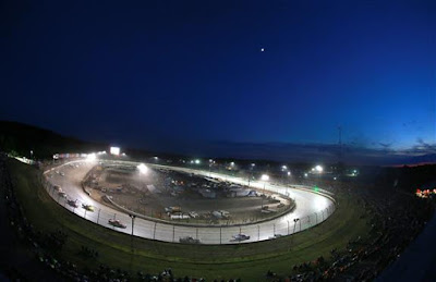 General view during the NASCAR Camping World Truck Series Eldora Dirt Derby at Eldora Speedway on July 18, 2018 in Rossburg, Ohio.