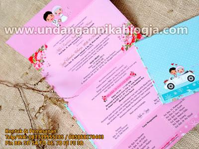undangan pernikahan semi hardcover khas jogja