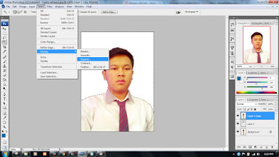 Cara Mengganti Background Pas Foto Menggunakan Photoshop