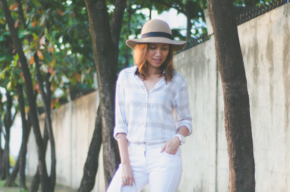 Linen top, linen polo shirt, women's linen shirt, all white outfit, summer look, summer dressing, summer ootd, cebu fashion bloggers, cebu blogger, cebu fashion, philippine street style, outfit, fringe bag, cebu blogs, toni pino-oca, life in the tropics