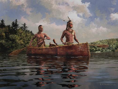 Iroquois Canoe Burial On Lake Ontario on Native American Symbols