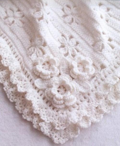 Gorgeous Crochet Baby Blanket - Free Crochet Diagram