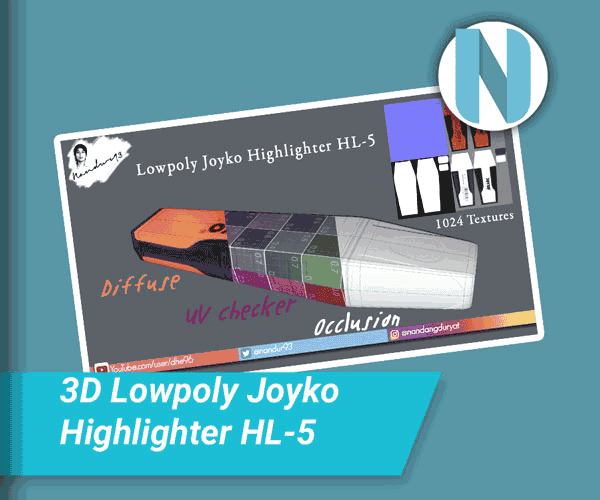 Lowpoly Joyko Highlighter HL-5 Nandur93