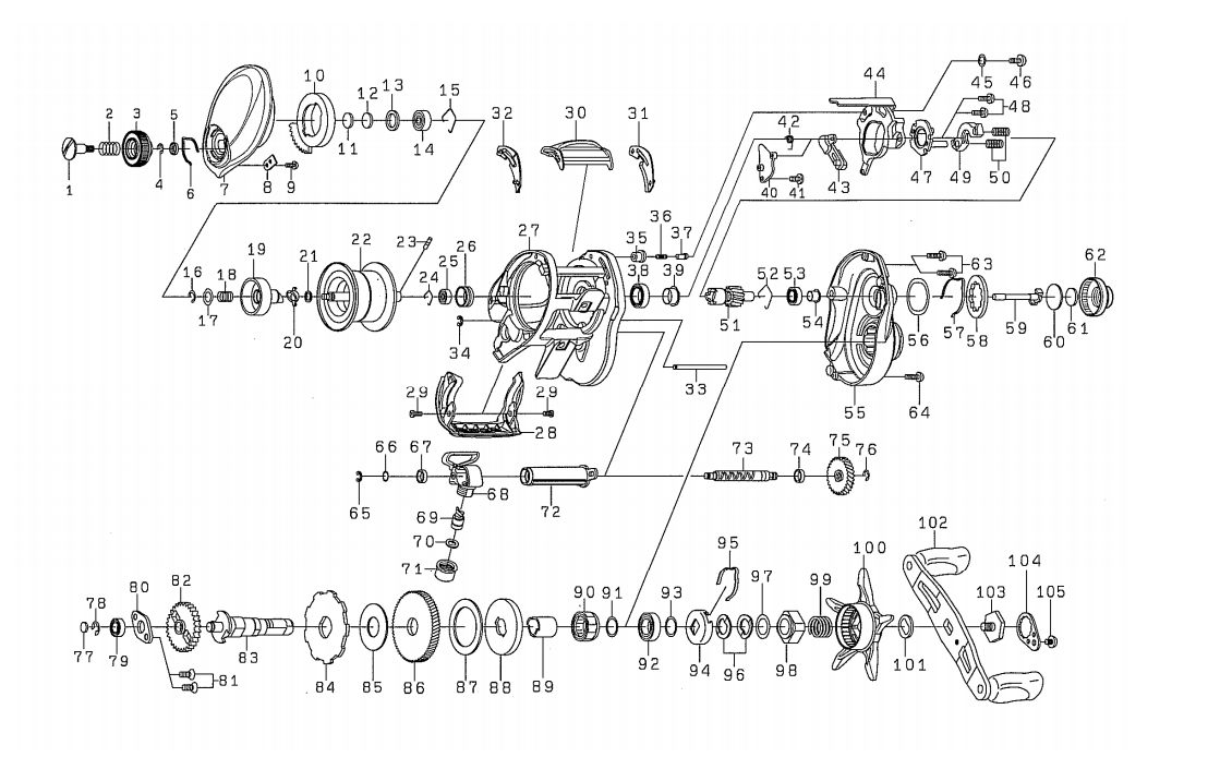 Daiwa Reel Parts Diagram on