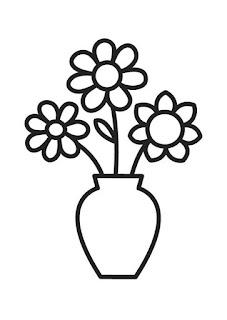 Цветы-раскраски простые