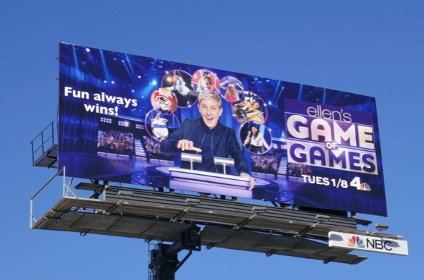 Ellens Game of Games season 2 NBC billboard