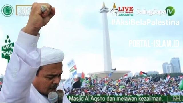 MENGGUNCANG MONAS! Live Makkah,  Orasi Habib Rizieq Syihab Aksi Bela Palestina