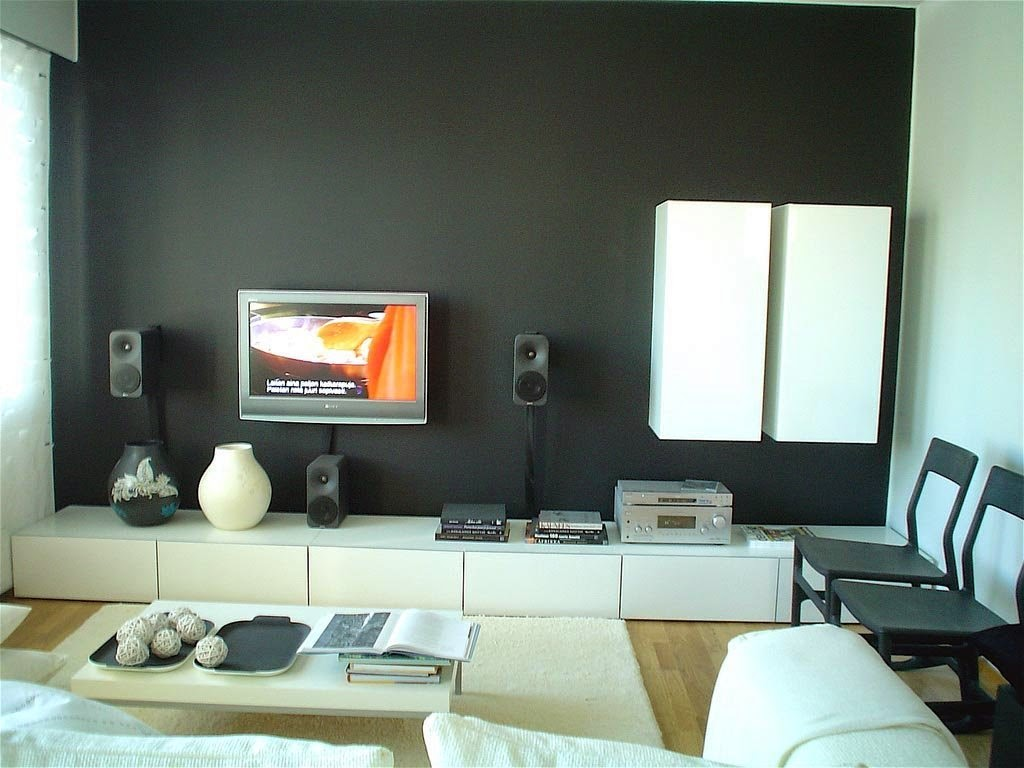 creative wall painting ideas for living room. Black Bedroom Furniture Sets. Home Design Ideas