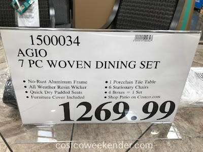 Deal for the Agio 7-piece Woven Dining Set at Costco