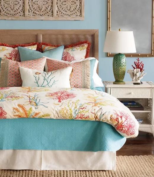 Glam Coastal Bedding Bedroom Decor Ideas