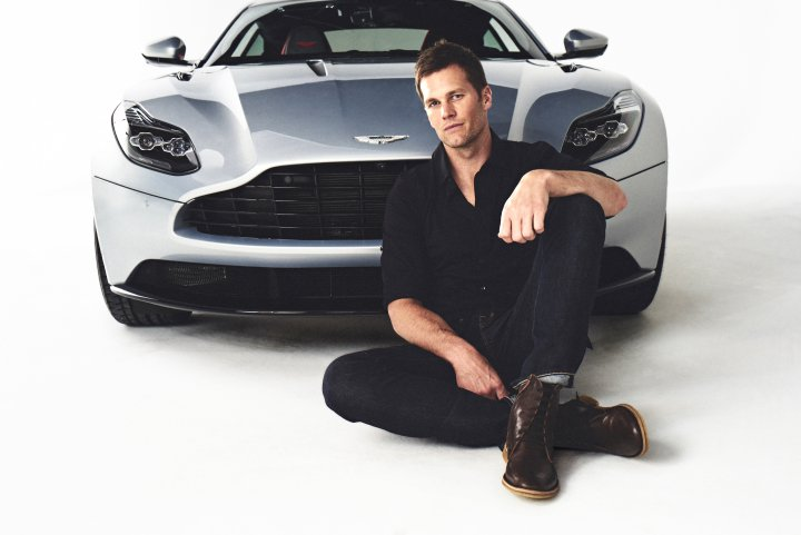 852b3b9eaf1 Tom Brady and the Luxury Aston Martin DB11 (Gif) | BlueisKewl