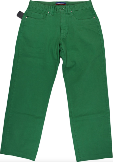 Faconnable Green Cotton Pants