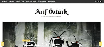 arif öztürk kişisel blog