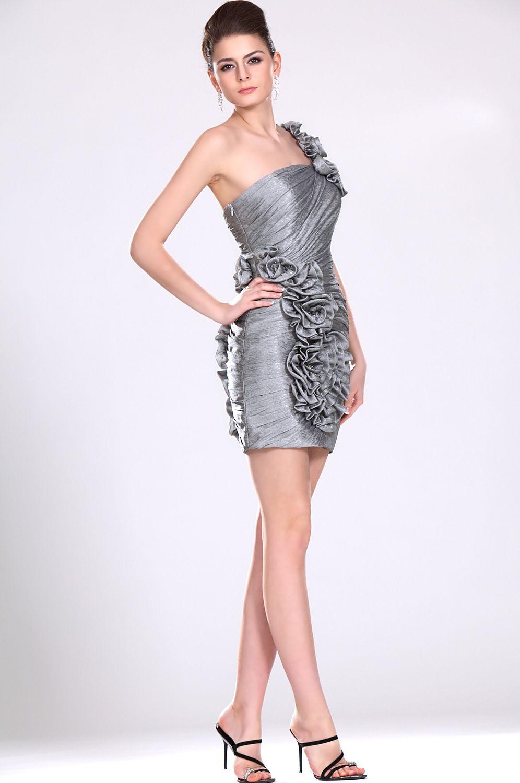 coiffurete dance robe de soir e grise courte. Black Bedroom Furniture Sets. Home Design Ideas
