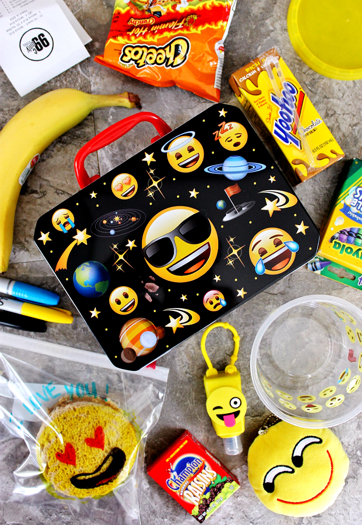 Back To School ideas for K-5, Emoji Lunch- #DoingThe99 #99YourSchoolYear #AD
