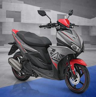Yamaha Aerox 125 LC abu abu grey