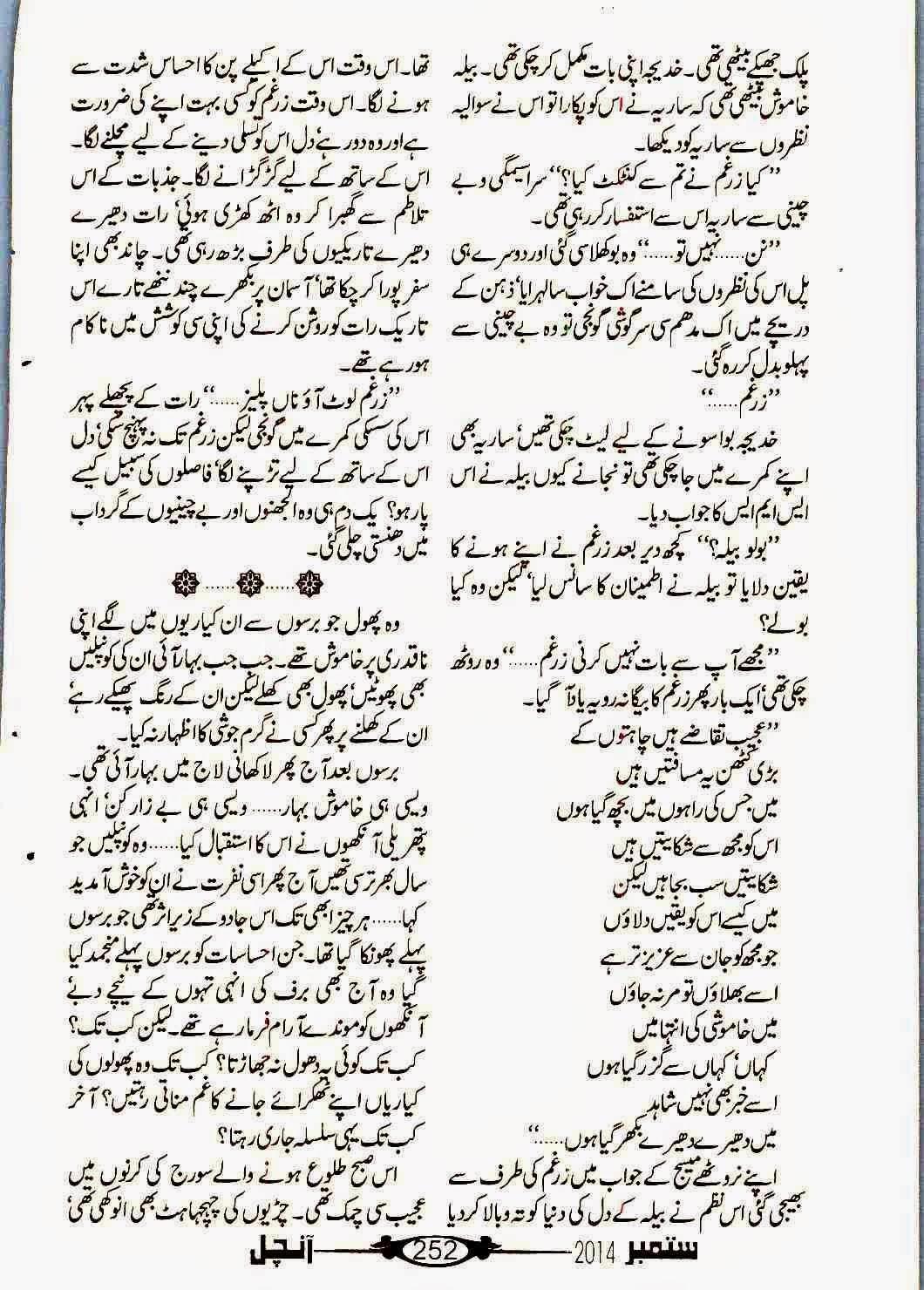 Free Urdu Digests: Tum chand ban keh rehna by Saima