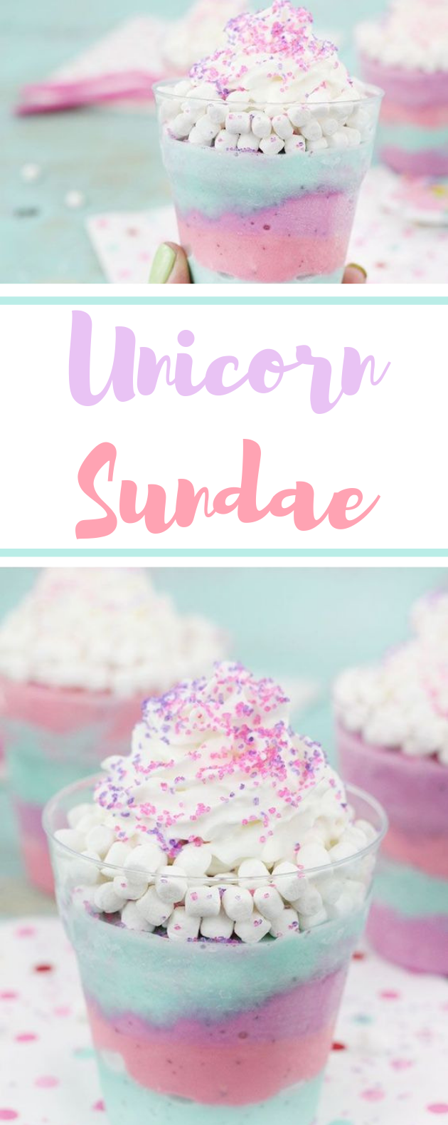 Unicorn Sundaes #icecream #desserts