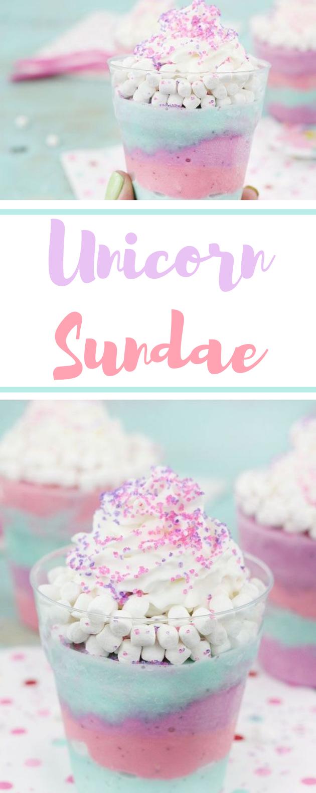 Unicorn Sundaes #icecream #desserts