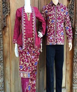 harga baju couple batik lengan panjang untuk remaja