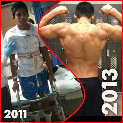 Entwicklung 2 Jahre Muskelaufbau - Vorher Nachher Bilder