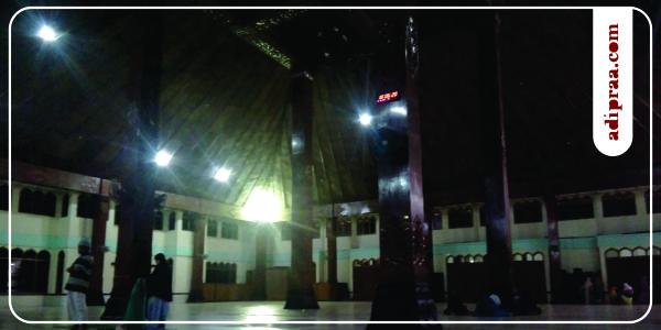 Tiang Penyangga (saka) Masjid Agung Manunggal Bantul | adipraa.com