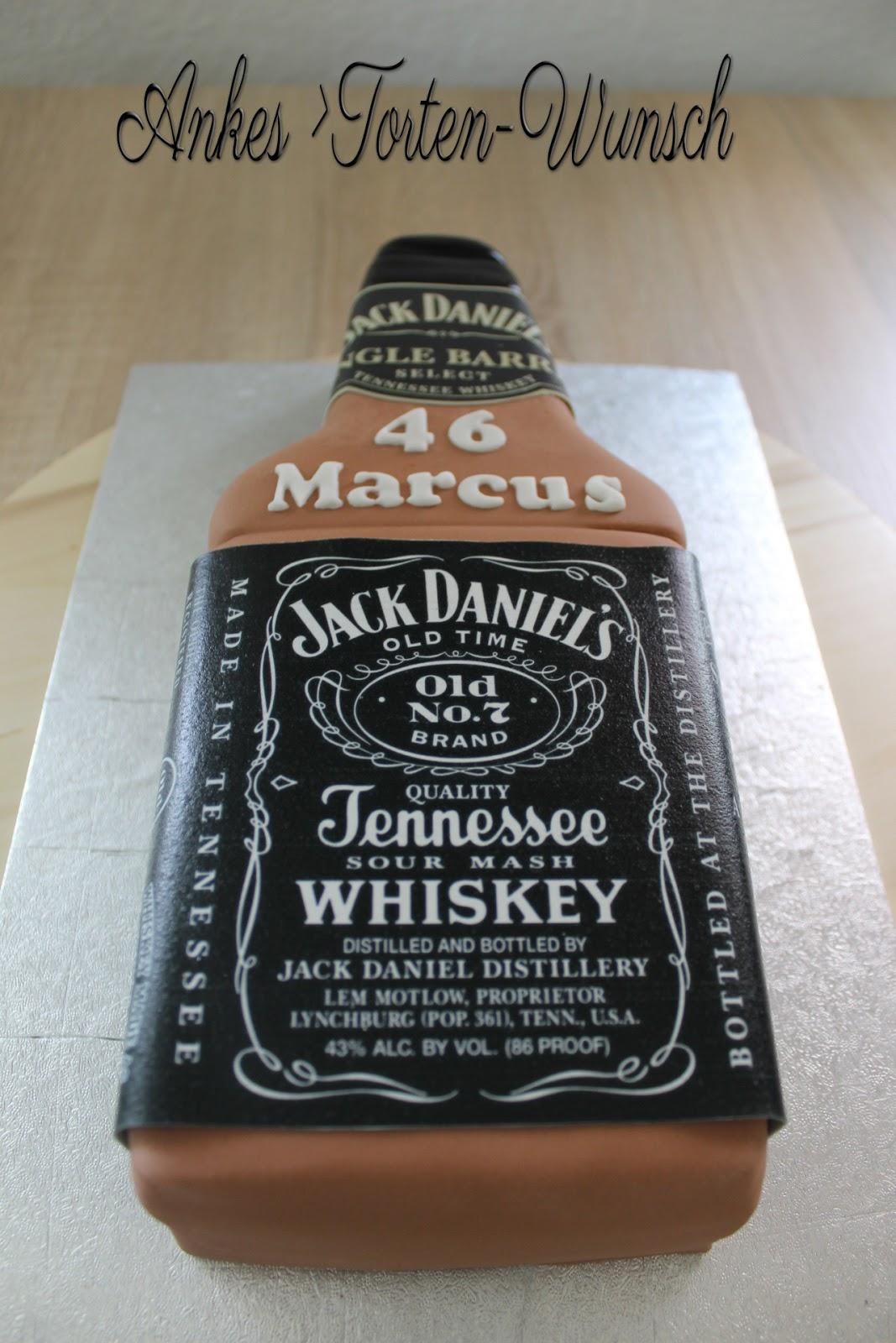 Jack Daniels Flaschen Torte Cake Birthday Anke S Torten Wunsch
