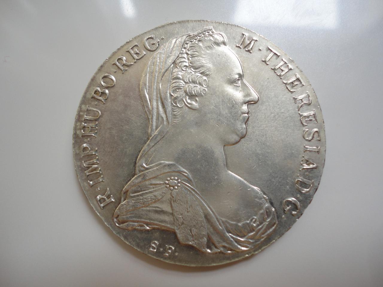 Sterling Silver Coins: 1780 SF Maria Theresa Austrian ...