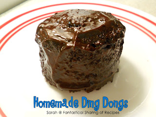 Homemade Ding Dongs | Make this lunchbox treat at home. It's fudgy, chocolatey, and sinfully delicious. #copycat #chocolate