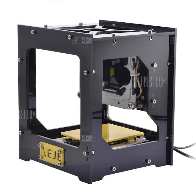 NEJE 300mW Laser Engraver Machine  -  YELLOW AND BLACK اطبع صورتك بالليزر على الخشب أو على الورق بطريقة مبهرة جدا  , حوحو للمعلوميات , huhu , طبع صورتك على الورق , على الخشب , طباعة صورتك بالليزر من خلال هاتفك الذكي , من خلال كبيوتر , بدون الة , عالم التقنيات , بسام خربوطلي