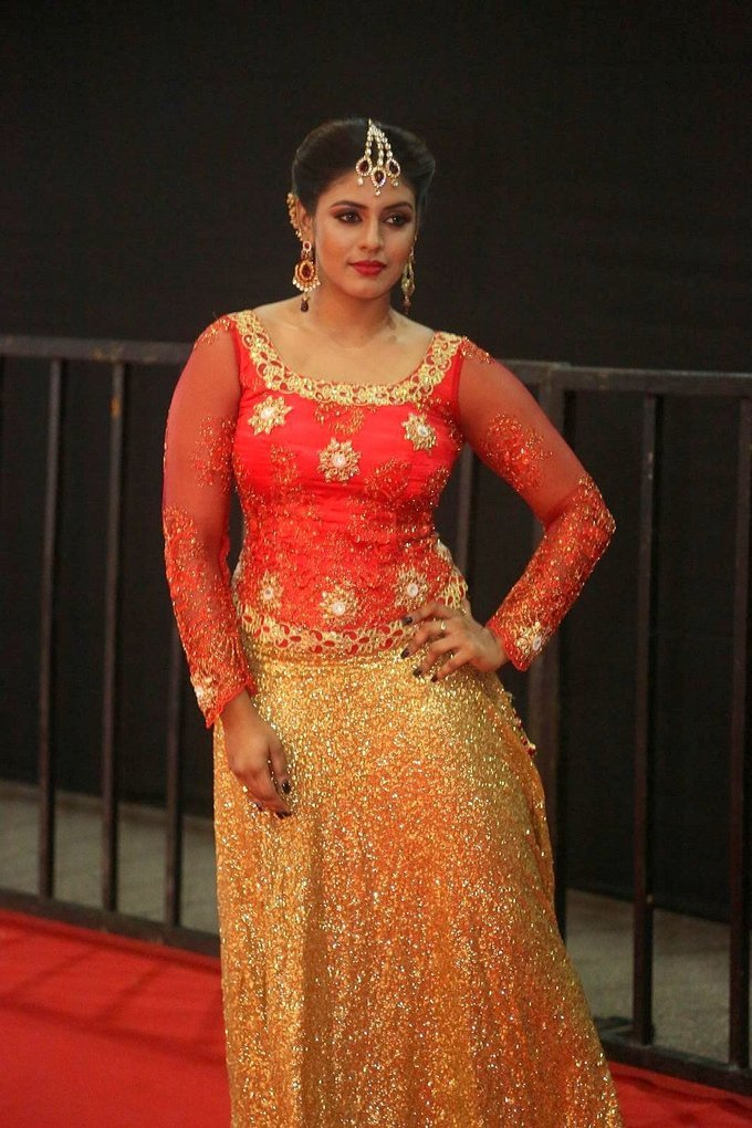 Actress Iniya at Mirchi Awards 2017 Event Stills