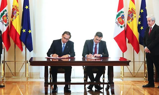 Presidentes Martín Vizcarra y Pedro Sánchez refuerzan relaciones