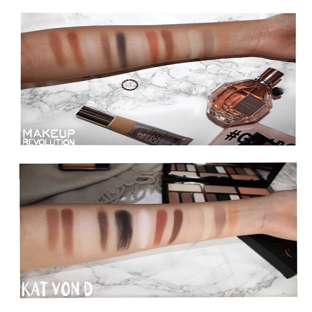 Kat Von D Shade + Light Eye contour palette & Makeup Revolution Ultra Eye Contour Light & Shade Palette