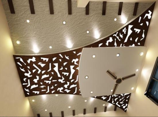 plafon dengan desain mewah