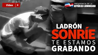 VÍDEO: Ladrón sonríe, te estamos grabando