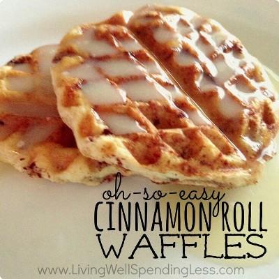 8. Cinnamon Roll Waffle